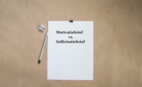 motivatiebrief vs sollicitatiebrief