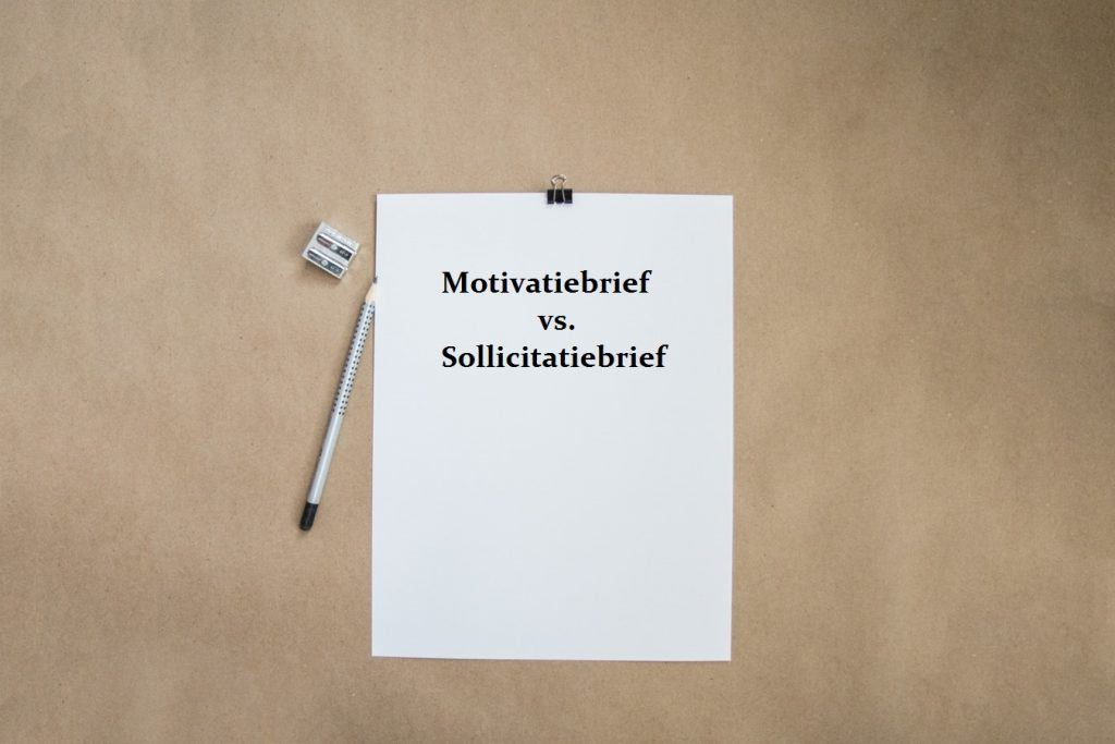 motivatiebrief vs sollicitatiebrief
