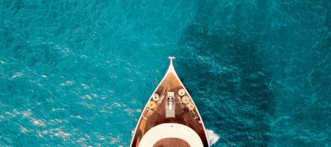Yacht on water